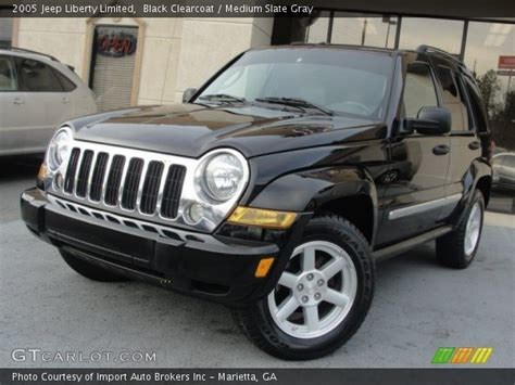 black jeep liberty 2005 black clearcoat 2005 jeep liberty limited medium slate
