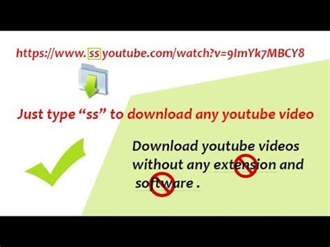 download youtube ss url just type quot ss quot before youtube url and your video will
