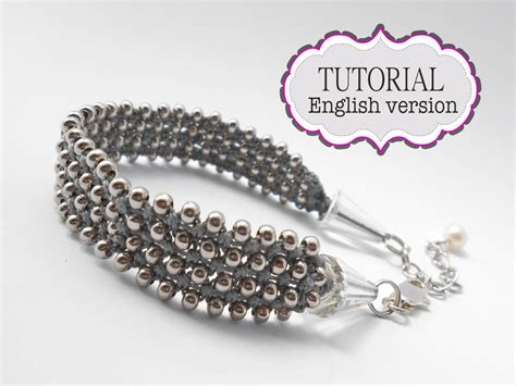 Free Micro Macrame Patterns - silver caviar micro macrame pattern on luulla