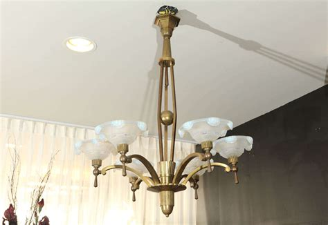 Waterfall Chandelier Petitot Chandelier With Waterfall Glass Shades At 1stdibs