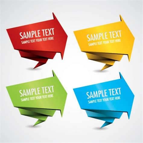 Origami Graphic Design - banner vector origami style vector free