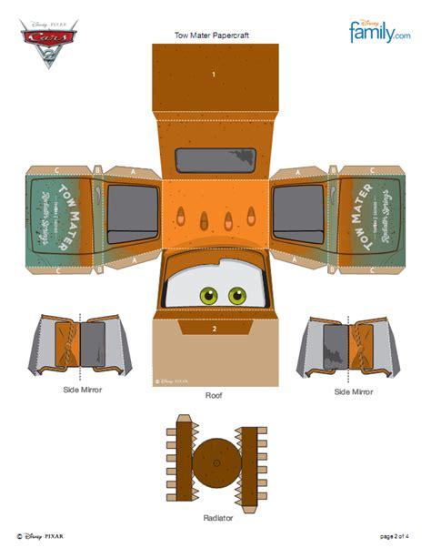 Papercraft Free Printable - 7 best images of papercraft printables cars disney cars