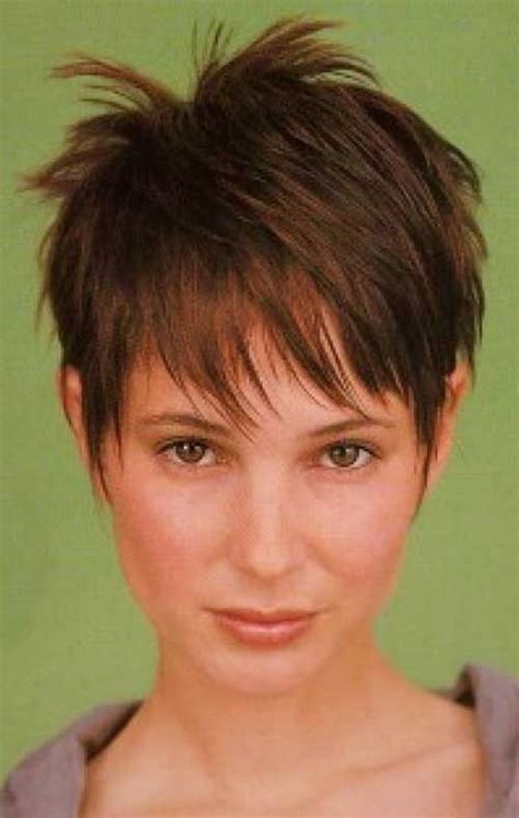 thin fine spiked hair short spiky straight pixie bangs hairstyle fashion qe