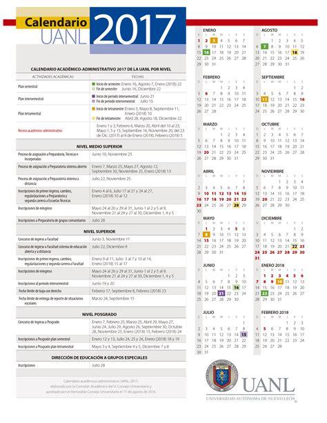 Calendario Escolar Uanl 2015 Calendario Uanl 2017 Facultad De Artes Esc 233 Nicas