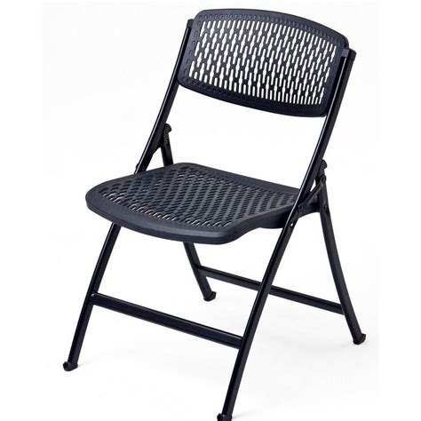 collapsible chair cosco commercial heavy duty resin folding chair with comfortable contoured seat and back in