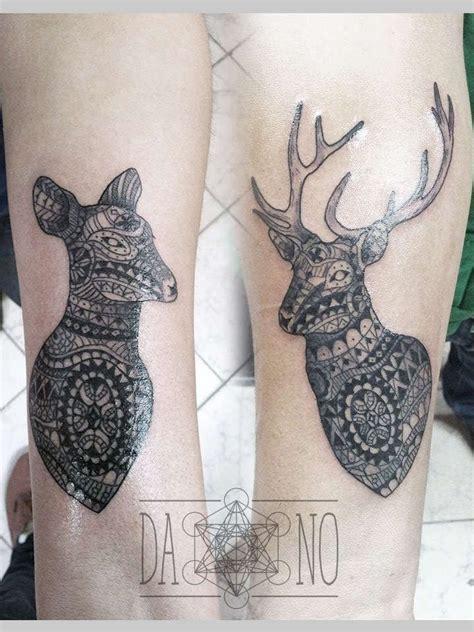couple tattoo deer dano tattoo deer couple tattoo inkbe tattoo blackwork