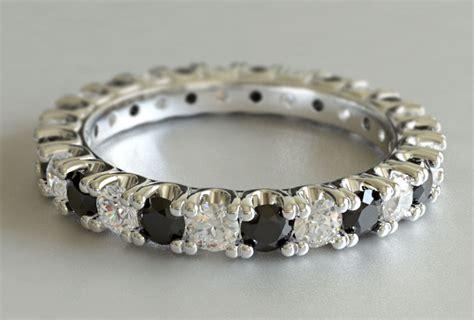 custom design cut black eternity ring new