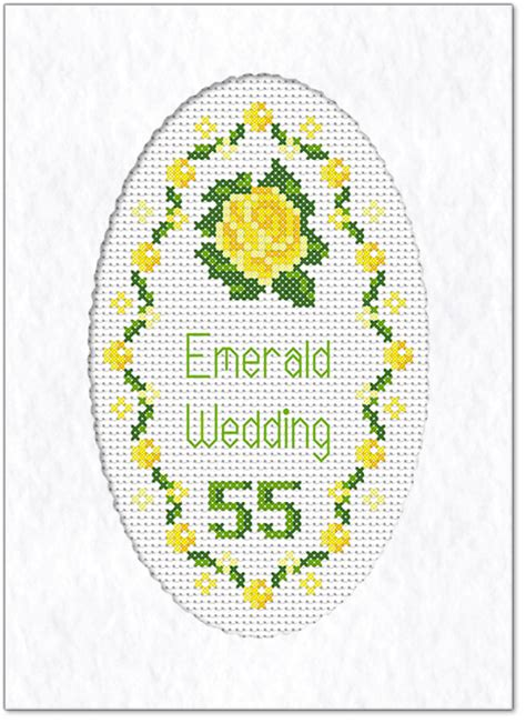 Emerald Wedding Anniversary Card Uk by Emerald Wedding Anniversary Card
