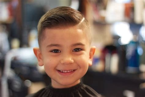 little boy hard part cut kid comb over hard part fade yelp