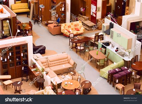 z modern furniture store furniture store display furniture parts modern stock photo
