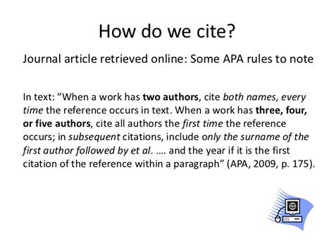 how to do a citation in a research paper cite it right cmns 122 winter 2012