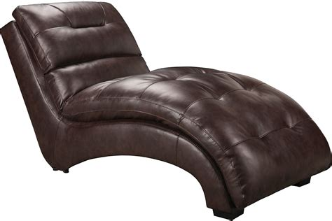 faux leather chaise faux leather curved chaise brown united