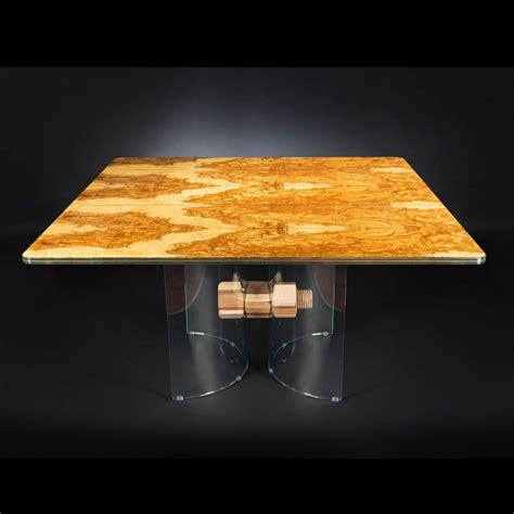 tavoli in legno e vetro tavolo in legno di olivo e vetro forma quadrata portofino