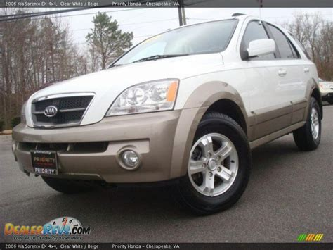 Kia 4x4 Sorento 2006 Kia Sorento Ex 4x4 Clear White Beige Photo 1