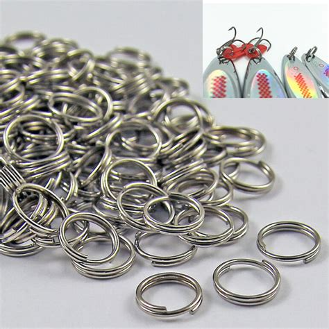 Alat Pancing A New 50pcs Stainless Steel Split Rings For Fishing L 50pcs wholesale stainless steel split rings for blank fishing lures crank bait bait fishing