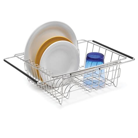 Polder Dish Rack by Polder Stainless Steel Sink Dish Rack Drainer Utensil