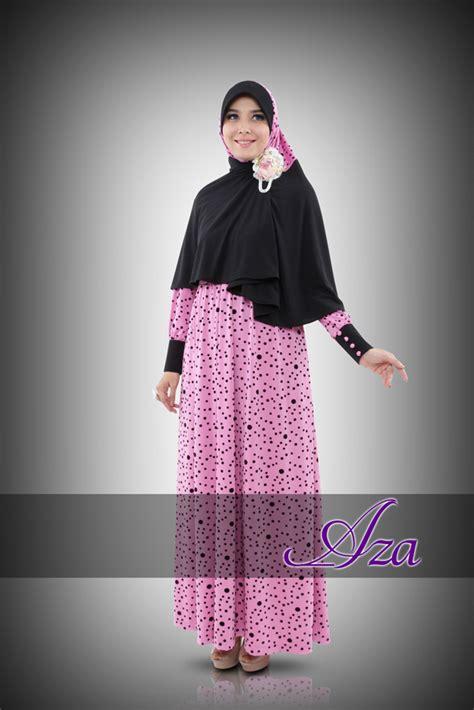 118595 Syari Pesta Calesta Pink Limited syar i raneea d pink baju muslim gamis modern