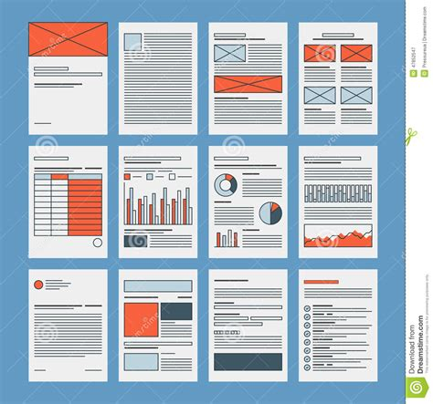 layout files business documents and company papers template stock