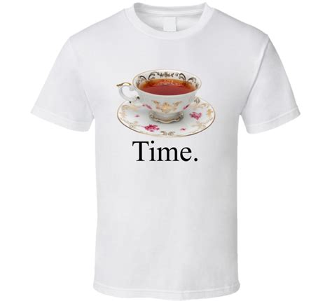 Custom Graphic Tshirt Time Maurice ellie g tea time tea cup golf t shirt