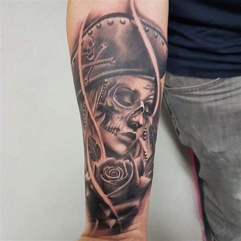 divine arts tattoo dead pirate by bencartertattoos at