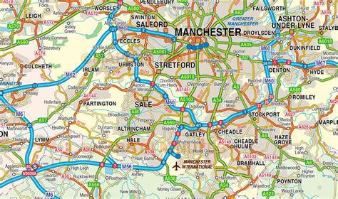 map uk manchester image gallery manchester map