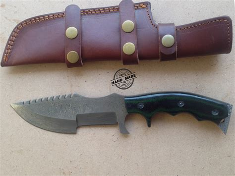 Knives For Kitchen by Damascus Tracker Knife Custom Handmade Damascus Tracker Knife