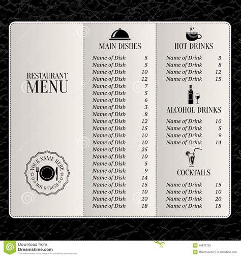 Restaurant Menu Template Stock Vector Image 40637750 Restaurant Drink Menu Template