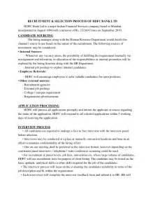 Hdfc Bank Recruitment Process