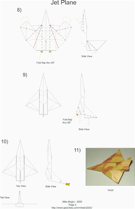 How To Make An Origami Jet - mikes origami