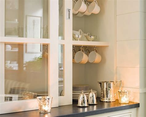 Kitchens glass sliding cabinet doors glass front cabinets glass