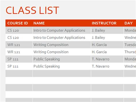 semester at a glance office templates