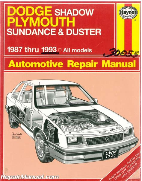 what is the best auto repair manual 1993 subaru legacy instrument cluster haynes dodge shadow plymouth sundance and duster 1987 1993 auto repair manual