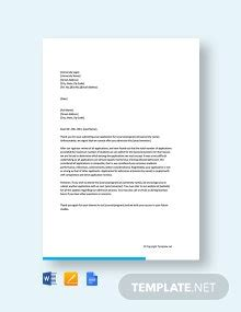college admission application letter template