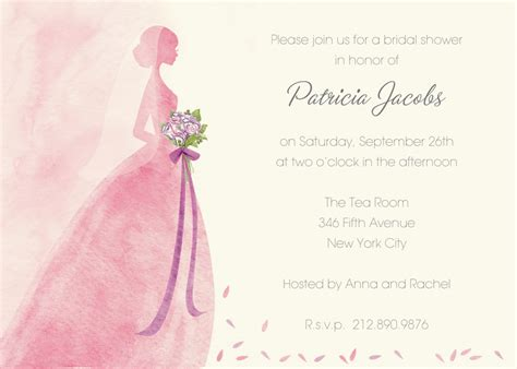 Bridal Shower Invitation Cards Templates by Pink Bridal Shower Invitations Pink Bridal Shower