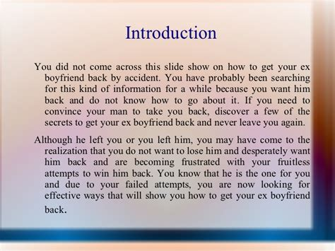 Apology Letter To Get Boyfriend Back Need To Convince Your To Take You Back Discover The Secrets To G