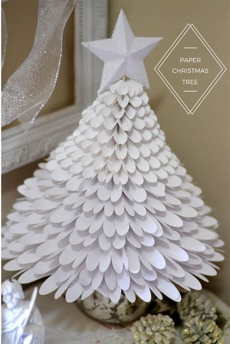 paper christmas tree create and babble