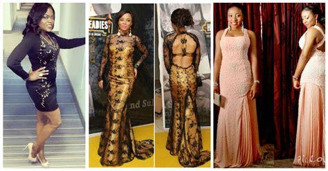 nigerian celebrity style stunning dinner gown from nigerian female celebrities
