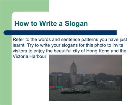 pattern of slogan writing designing a slogan