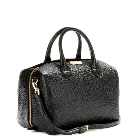 bowling bags burberry alchester leather bowling bag in black lyst