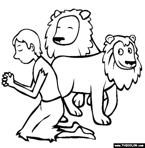 daniel and the lions den coloring page bible stories coloring pages page 1