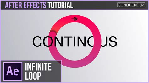 ae loop pattern after effects tutorial infinite circle loop inspired by