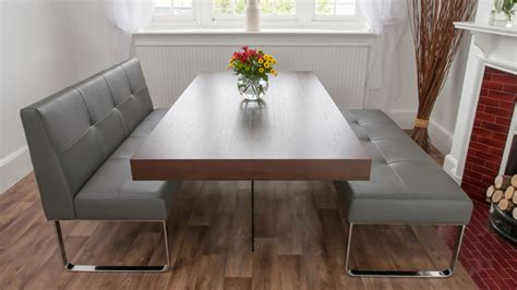 trendy dark wood dining set  dining benches wide