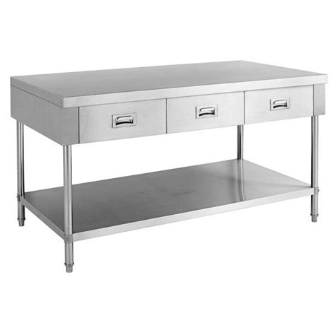 stainless steel kitchen island table best 25 stainless steel island ideas on