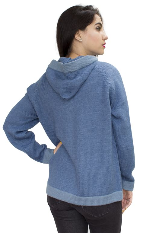 hooded alpaca wool jacket sweater coat special