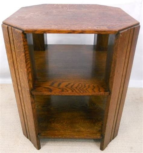 Bookcase Coffee Table Oak Octagonal Top Coffee Table Cabinet Bookcase 163944 Sellingantiques Co Uk