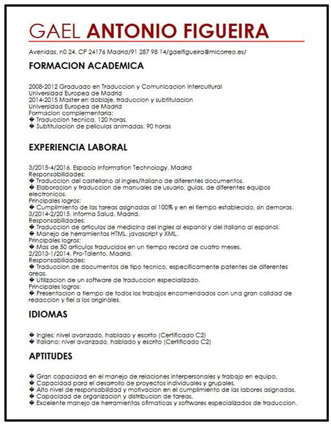 Modelo Curriculum Universidad Modelo De Cv Para Estudiantes Internacionales Muestra Curriculum Vitae
