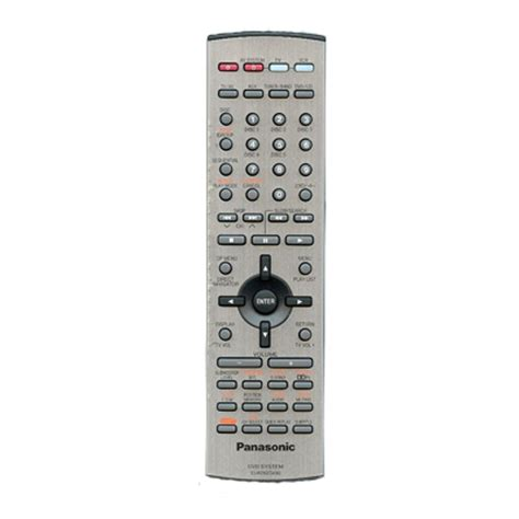 audio remote for panasonic saht700 home theater system