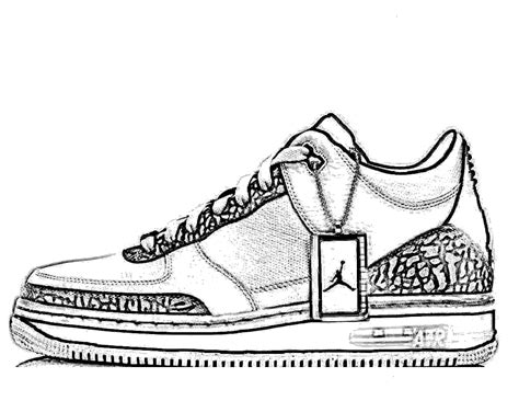 printable coloring pages nike shoes shoe template for coloring clipart best