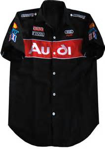 new black audi wrc rally car racing team pit shirt black m