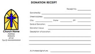 non profit receipt template non profit tax donation receipts